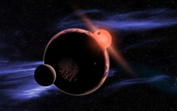 Обои Космос, Солнце, планеты, спутники планет
