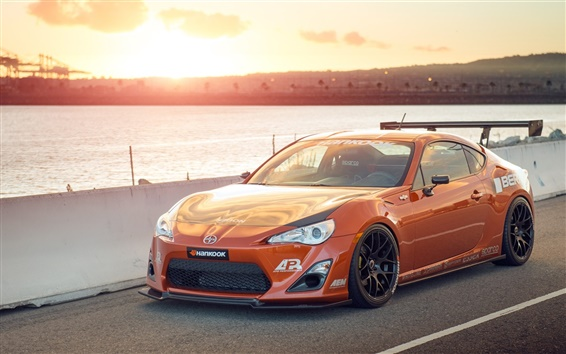 Fond d'écran Toyota Scion FS-R d'orange supercar