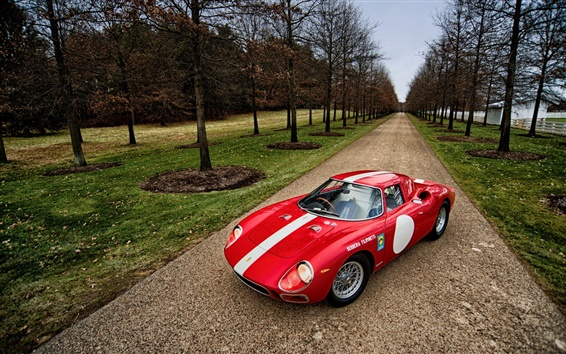Обои +1964 Ferrari 250 LM красный суперкар