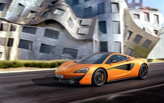 Wallpaper 2015 McLaren 570S Coupe, yellow color supercar