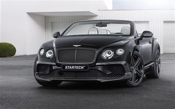Обои 2 015 Startech Bentley Continental черный автомобиль вид спереди