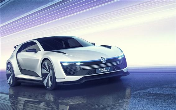 Обои 2 015 Volkswagen Golf ГТД Спорт концепт-кар