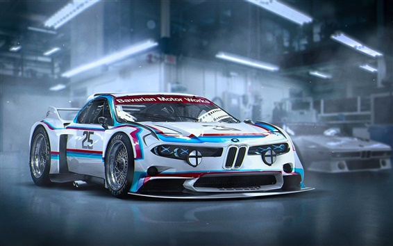 Wallpaper BMW 3.0 CSL concept future car
