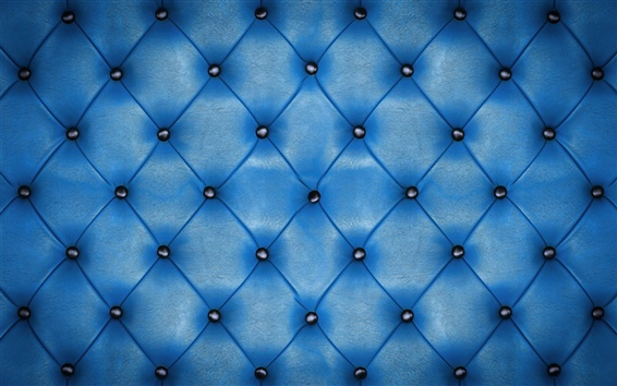 Wallpaper Blue leather, upholstery, texture