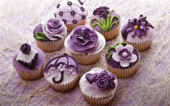 Wallpaper Dessert, cake, food, cream, cupcakes