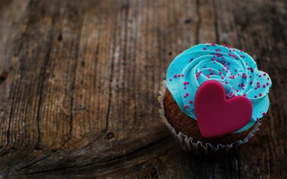Wallpaper Dessert, cake, food, love heart, cream