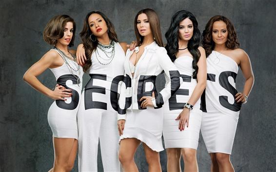 Обои Коварные горничные сериал, пять девушек, секреты