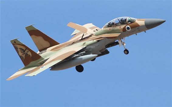 Fond d'écran F-15 combattant, force de défense israélienne