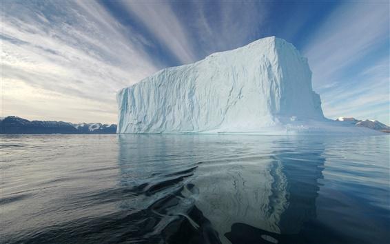 Fondos de pantalla Iceberg, Témpano de hielo, mar, ártico, frío