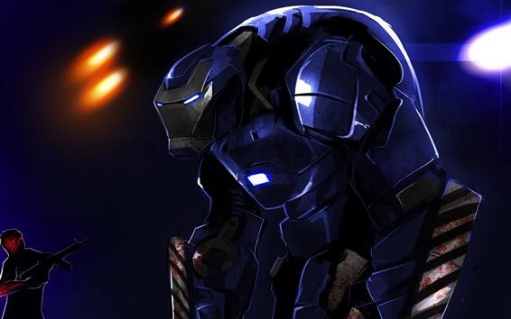 Papéis de Parede Homem de Ferro 3, pintura da arte