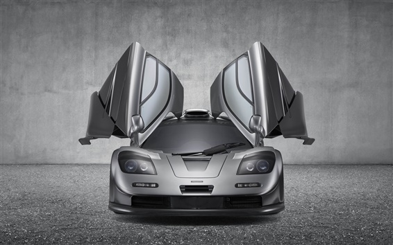 Wallpaper McLaren F1 GT supercar, wings