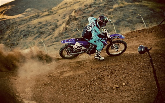 Wallpaper Motocross, pilot, dust, extreme sports