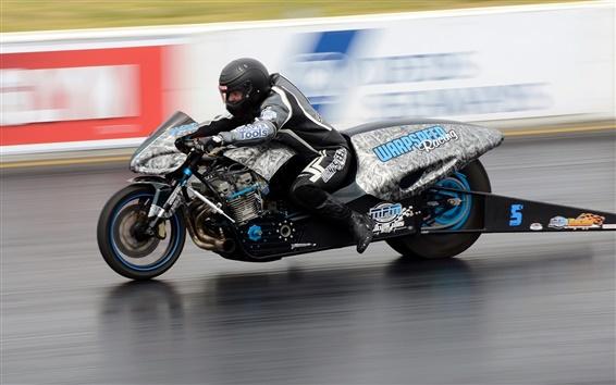 壁紙 オートバイ、ドラッグレース、高速