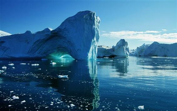 Wallpaper Sea, iceberg, ice, water
