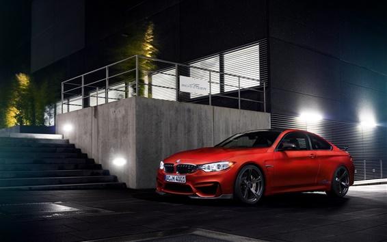 Papéis de Parede BMW Coupe 2014 M4 F82, carro laranja