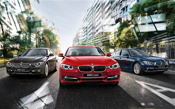 Обои 2015 BMW 3 серии автомобилей, F30 седан