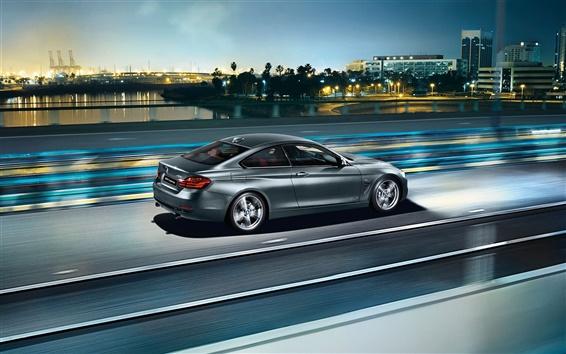 Fond d'écran 2 015 BMW série 4 vitesse de la voiture F32 coupé