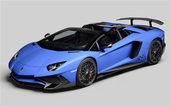 Обои 2 015 Aventador LP750-4 Lamborghini суперкар синий