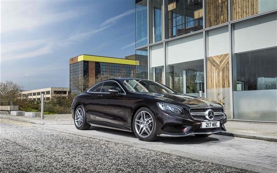 Fond d'écran 2,015 Classe S AMG Mercedes-Benz C217 Coupé voiture noire