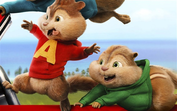 Wallpaper Alvin and the Chipmunks: The Road Chip, 2015 movie