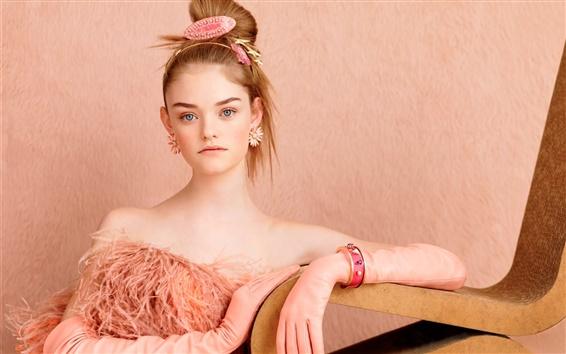 Wallpaper Beautiful young girl, Alexandra Willow Hand