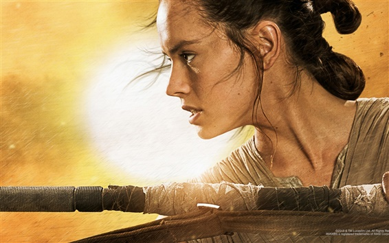 Wallpaper Daisy Ridley, Star Wars Episode VII: The Force Awakens