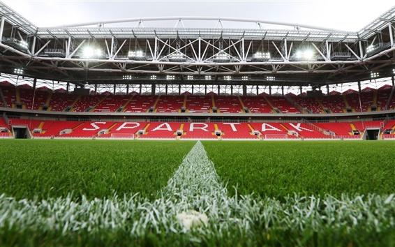 Fond d'écran FC Spartak Stadium, terrain de football, pelouse, lumières