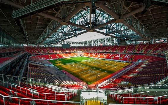 Wallpaper FC Spartak Stadium, football, lawn