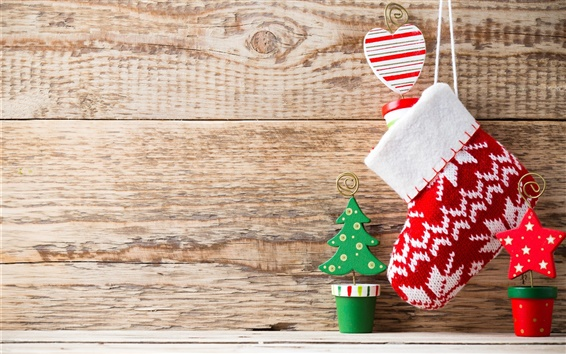 Wallpaper Merry Christmas, New Year, decoration, sork, wood