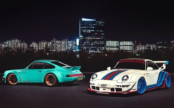 Fond d'écran Porsche 911 Carrera supercars, Hong Kong