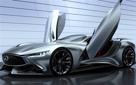 Wallpaper 2014 Infiniti Vision Gran Turismo concept supercar, wings