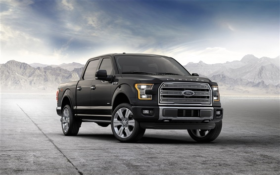Wallpaper 2015 Ford F-150 black jeep