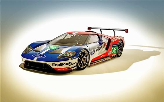 Fond d'écran 2016 voiture de course Ford GT