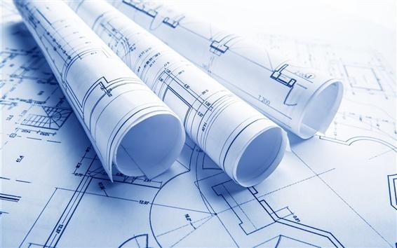 Fond d'écran Conception de l'architecture, des formes, du papier