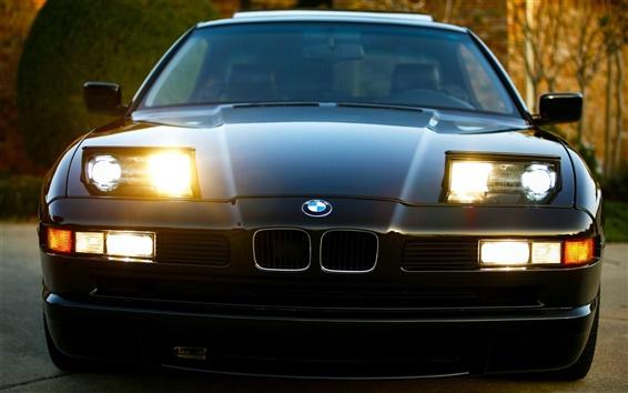 Обои BMW 8 серии E31 автомобиль, вид спереди фары