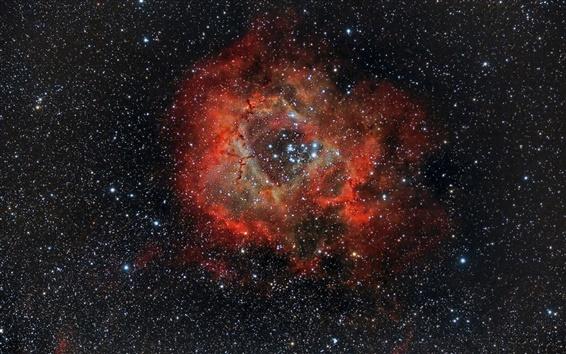 Wallpaper Beautiful nebula, rosette, NGC 2237, space, stars