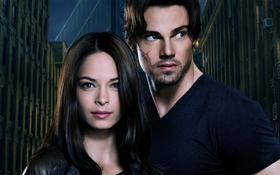 Wallpaper Beauty and the Beast, Kristin Kreuk, Jay Ryan