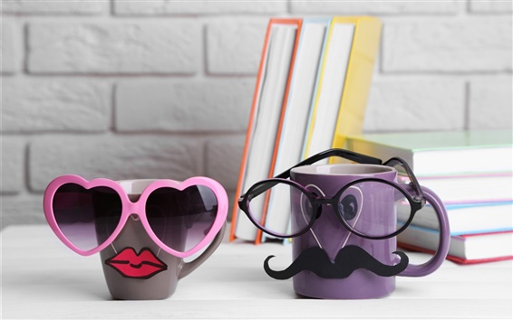 lustige stil tassen kaffeebecher gl ser hintergrundbilder hd bild. Black Bedroom Furniture Sets. Home Design Ideas