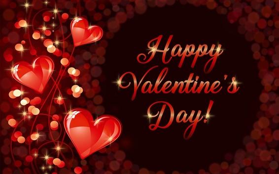 Wallpaper Happy Valentine's Day, romantic, love, hearts