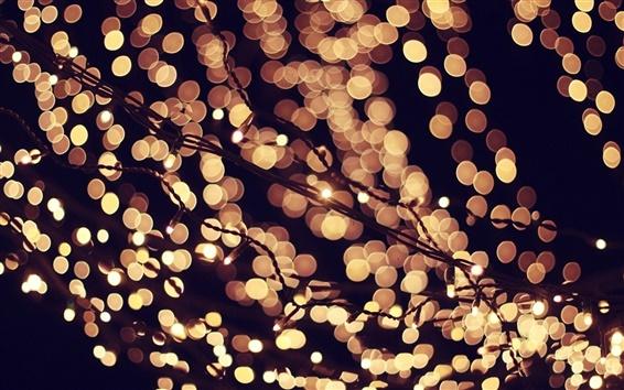 Обои Фары, боке, вечером, ночью, праздники