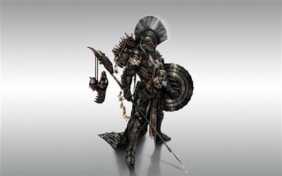 Обои Металлические вооружены бойцы монстр