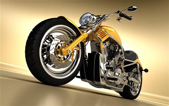 壁紙 金属オートバイ、道路、グレア