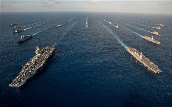Wallpaper Military ships, weapons, army, sea