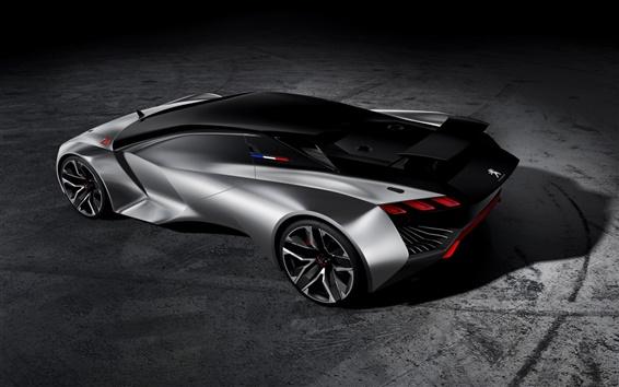 Papéis de Parede Peugeot Visão Gran Turismo, conceito supercarro