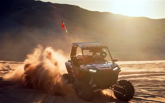 Wallpaper Race car, sports, dust, sun