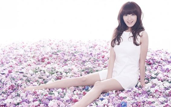 壁紙 レインボー韓国の音楽の女の子 04