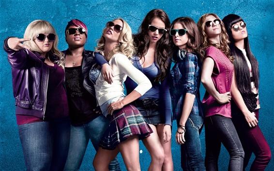 Обои Семь модные девушки, очки