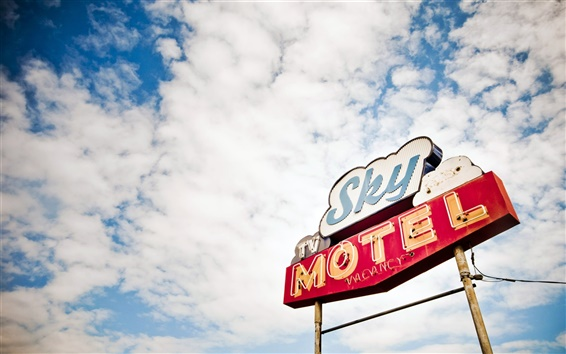 Wallpaper Sky motel in USA
