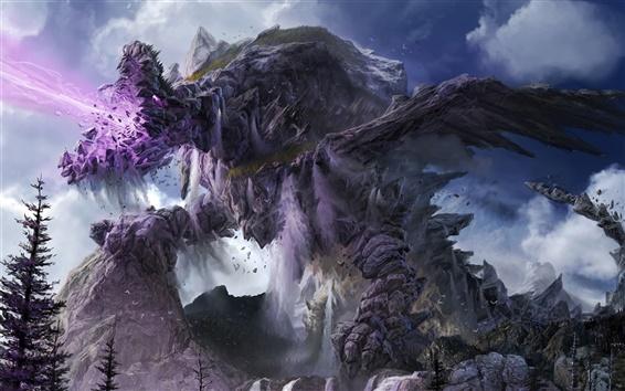 Wallpaper Stone monster fantasy