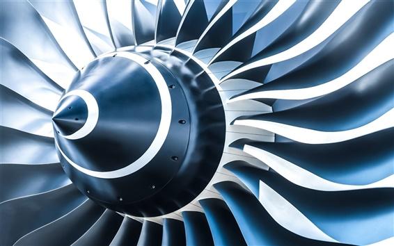 Wallpaper Turboprop, jet, engine, aircraft, 3D